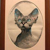 """Картины и панно ручной работы. Ярмарка Мастеров - ручная работа Кошка """"Клеопатра"""". Handmade."""