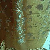 MOONBAY, шерстяной палантин с ручной вышивкой, Индия?