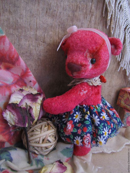 Мишки Тедди ручной работы. Ярмарка Мастеров - ручная работа. Купить Малинка. Handmade. Комбинированный, медведь, винтажный плюш