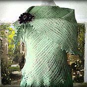 Одежда ручной работы. Ярмарка Мастеров - ручная работа Безрукавка цвета зеленой мяты. Handmade.