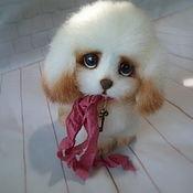 Мягкие игрушки ручной работы. Ярмарка Мастеров - ручная работа Очень добрый щенок. Handmade.