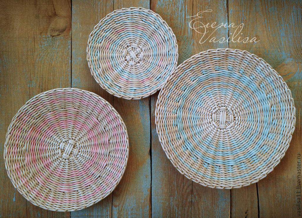 Декоративные тарелки из бумаги