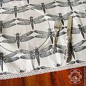 Скатерти ручной работы. Ярмарка Мастеров - ручная работа Водоотталкивающая верхняя скатерть Стрекоза. Handmade.
