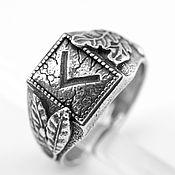 Украшения ручной работы. Ярмарка Мастеров - ручная работа Славянское украшение кольцо с руной Кано, перстень из серебра. Handmade.