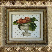 Картины и панно handmade. Livemaster - original item Cross stitch Pomegranate still life. Handmade.