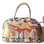 Сумки и аксессуары manualidades. Livemaster - hecho a mano Handmade leather bag art 003 MAX R SIT Hand Painting. Handmade.