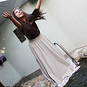 """Одежда handmade. Livemaster - original item Длинная юбка с кружевом """"Нимфа"""", в пол. Handmade."""