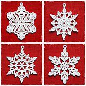 Подарки к праздникам ручной работы. Ярмарка Мастеров - ручная работа Набор снежинок 10 штук. Handmade.