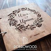 Свадебный салон ручной работы. Ярмарка Мастеров - ручная работа Книга пожеланий из дерева. Handmade.