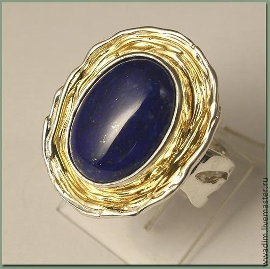 Кольца ручной работы. Ярмарка Мастеров - ручная работа. Купить Кольцо серебряное с лазуритом. Handmade. Тёмно-синий, лазурит натуральный
