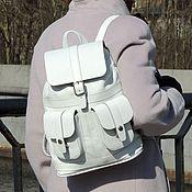 Сумки и аксессуары handmade. Livemaster - original item Backpack leather women`s white