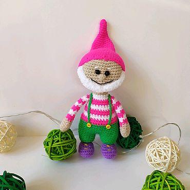 Куклы и игрушки ручной работы. Ярмарка Мастеров - ручная работа Куклы: Гном, вязаный гномик подарок на Новый год.. Handmade.