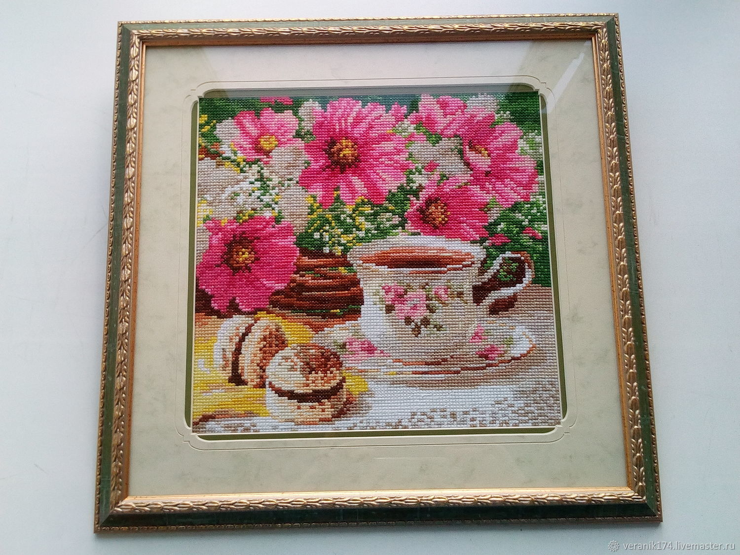 Embroidered pattern Morning tea, Pictures, Chelyabinsk,  Фото №1