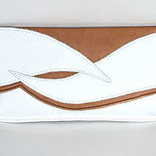 Сумки и аксессуары handmade. Livemaster - original item Leather clutch in light colors
