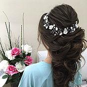 Свадебный салон handmade. Livemaster - original item Wedding ornament for the hair.Bridal jewelry For the hair. Handmade.