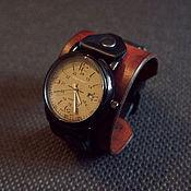 Часы наручные ручной работы. Ярмарка Мастеров - ручная работа Часы из натуральной кожи FORCE. Handmade.