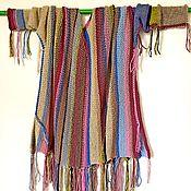 Одежда ручной работы. Ярмарка Мастеров - ручная работа Свитер безразмерный/оверсайз в полоску унисекс с бахромой. Handmade.