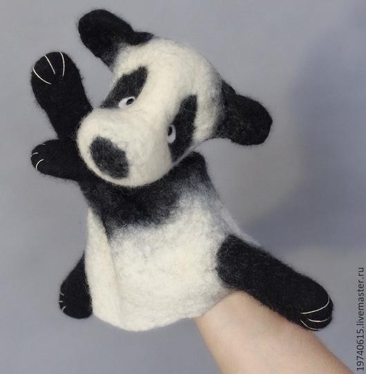 Кукольный театр ручной работы. Ярмарка Мастеров - ручная работа. Купить Мишка панда. Перчаточная кукла. Би-Ба-Бо.. Handmade.