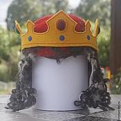 """Для дома и интерьера ручной работы. Ярмарка Мастеров - ручная работа Шапка для сауны """"Монарший удел. Король-воин"""". Handmade."""