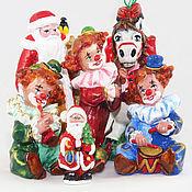 Подарки к праздникам ручной работы. Ярмарка Мастеров - ручная работа Банда Ёлочных игрушек из папье-маше (фигурки, игрушки на елку). Handmade.