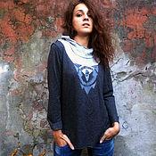 Одежда handmade. Livemaster - original item Jumper gray. Handmade.