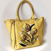Сумки и аксессуары handmade. Livemaster - original item Bag leather yellow. Handmade.