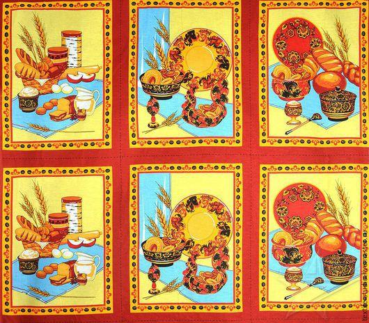 Шитье ручной работы. Ярмарка Мастеров - ручная работа. Купить Вафельное полотно Урожай 150 см. Handmade. Бежевый, ткань