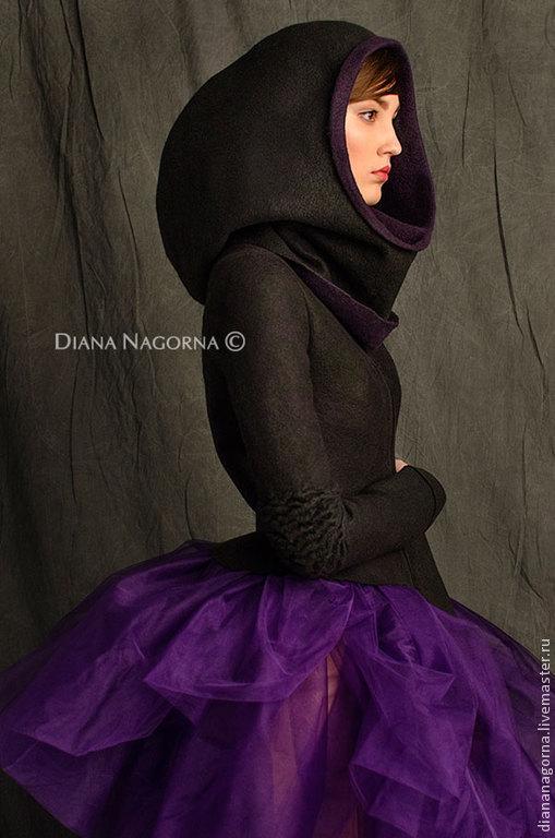 Jacket Merino wool 'Space girl', Outerwear Jackets, Kharkiv,  Фото №1