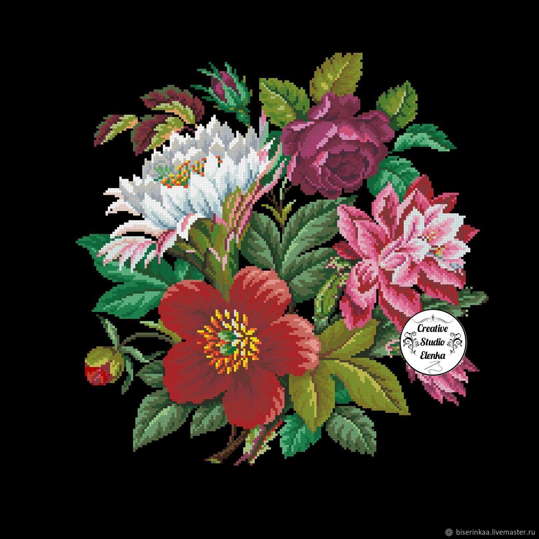 """Ретро схема вышивки """"Викторианский букет цветов"""", Схемы для вышивки, Таганрог,  Фото №1"""