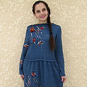 """Одежда ручной работы. Ярмарка Мастеров - ручная работа платье """" Снегири"""". Handmade."""