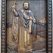 Картины и панно handmade. Livemaster - original item Icon of St. Nicholas the Wonderworker, beech, handmade.. Handmade.