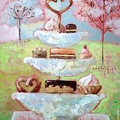 Картины и панно ручной работы. Ярмарка Мастеров - ручная работа Десерт. Handmade.