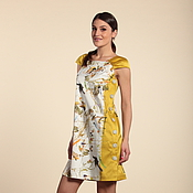 Одежда ручной работы. Ярмарка Мастеров - ручная работа 267: Свободное платье летнее, платье с птицами, платье на пуговицах. Handmade.