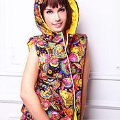 Одежда handmade. Livemaster - original item Vest with hood Panache. Handmade.