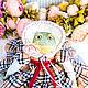 Алиссия лягушка жаба авторская интерьерная кукла, символ богатства. Куклы и пупсы. Marina Ebert авторские куклы. Ярмарка Мастеров.  Фото №4