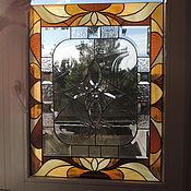 Для дома и интерьера ручной работы. Ярмарка Мастеров - ручная работа Витражная вставка для двери. Handmade.