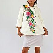 Одежда ручной работы. Ярмарка Мастеров - ручная работа Нарядная куртка-жакет Розовая роза. Handmade.