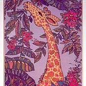 """Картины и панно ручной работы. Ярмарка Мастеров - ручная работа """"Жираф"""".  (""""Flora&fauna"""").. Handmade."""
