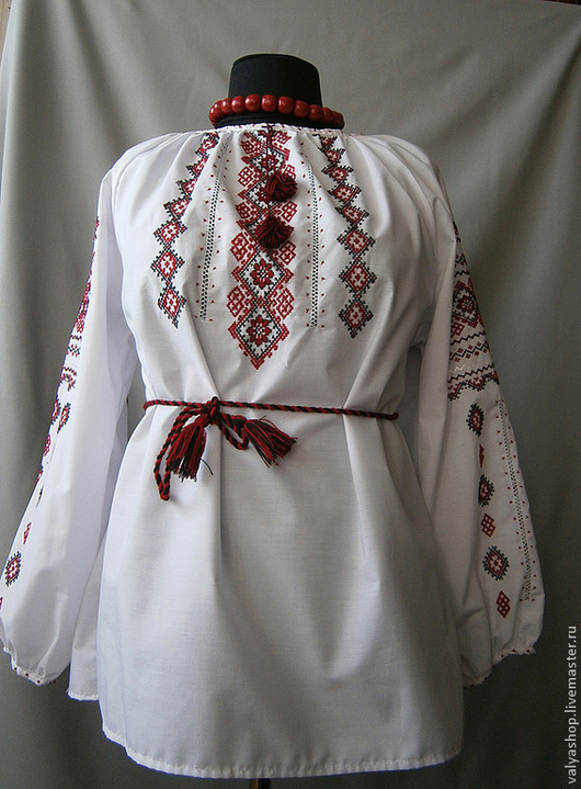Блузки ручной работы. Ярмарка Мастеров - ручная работа. Купить Блуза-вышиванка из поплина  Карпатские узоры 2 р.52-54. Handmade.