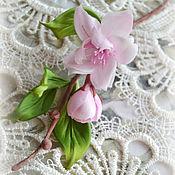 Украшения ручной работы. Ярмарка Мастеров - ручная работа Цветы из шелка Брошь Весны цветение. Handmade.