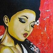 Картины и панно ручной работы. Ярмарка Мастеров - ручная работа Красный Жасмин. Handmade.