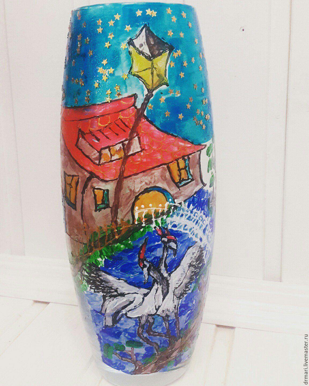 Расписная ваза на заказ