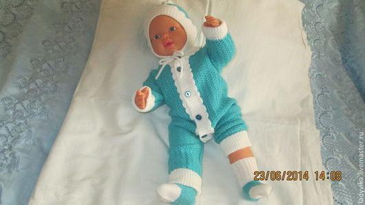 Для новорожденных, ручной работы. Ярмарка Мастеров - ручная работа. Купить Комплект для малыша    (004). Handmade. Комплект вязаный