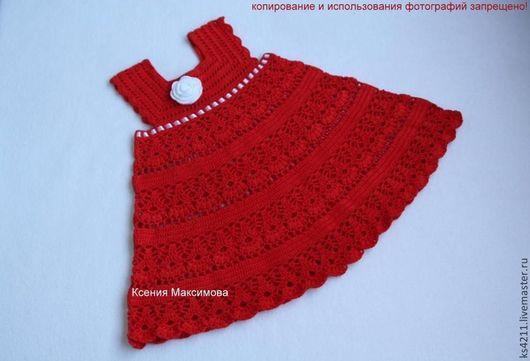 Одежда для девочек, ручной работы. Ярмарка Мастеров - ручная работа. Купить вязаное платье для девочки. Handmade. Белый, сарафан