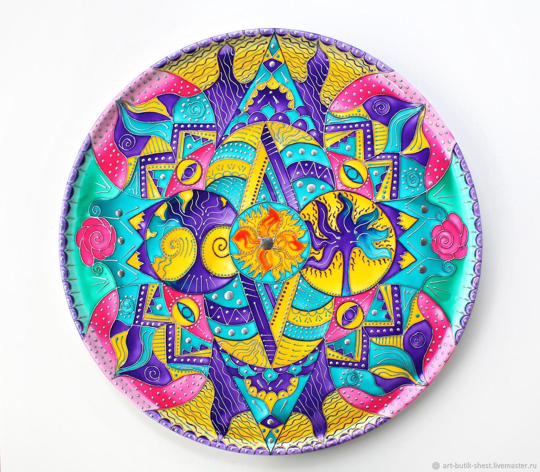 Large mandala 'Enlightenment of the mind' plate porcelain d40 cm, Plates, Krasnodar,  Фото №1