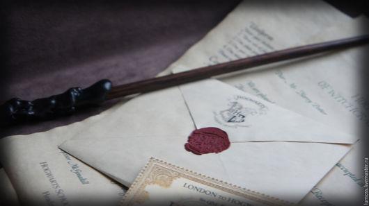 Персональные подарки ручной работы. Ярмарка Мастеров - ручная работа. Купить Письмо из Хогвартса. Handmade. Коричневый, билет на поезд