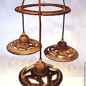 Для дома и интерьера handmade. Livemaster - original item Ceramic chandelier with three shades.