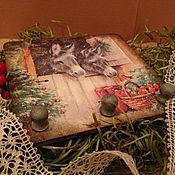 Подарки к праздникам ручной работы. Ярмарка Мастеров - ручная работа Панно-вешалка Новый Год. Handmade.