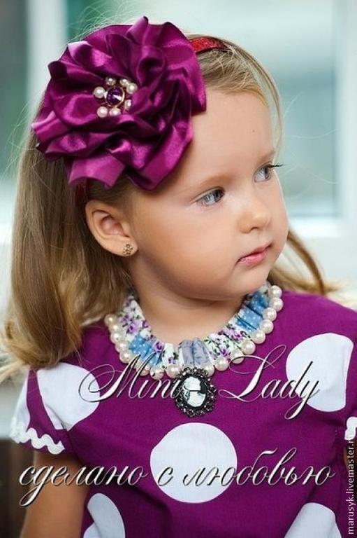 Одежда для девочек, ручной работы. Ярмарка Мастеров - ручная работа. Купить Платье Веселые горохи-фиолет. Handmade. Фиолетовый