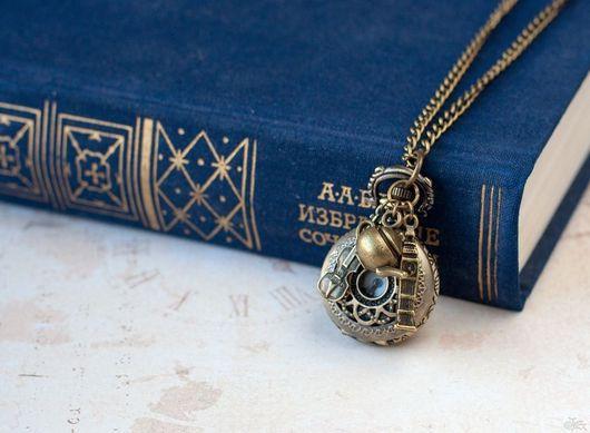"""Часы ручной работы. Ярмарка Мастеров - ручная работа. Купить Часы-кулон """"Шерлок Холмс"""". Handmade. Золотой, Великобритания, чайник"""